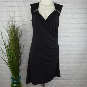 Michael Kors - black ruched dress